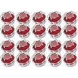 リングケース 透明 ジュエリー ボックス ケース 20個 セット 指輪 リング 指輪ケース 赤