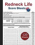 Redneck Life Score Sheet: 120 Large Redneck Life Score Pads - Redneck Life Board Game Score Sheets - Perfect Score Book For Redneck Life Score Keeping