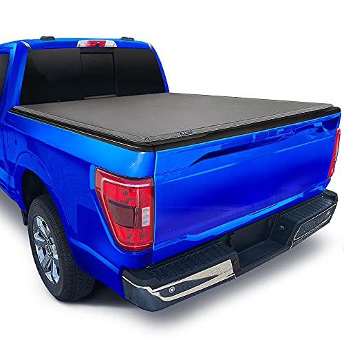 Tyger Auto T3 Soft Tri-Fold Truck Bed Tonneau Cover Compatible with 2015-2021 Ford F-150 | Styleside 5.5' Bed (66') | TG-BC3F1041 , Black
