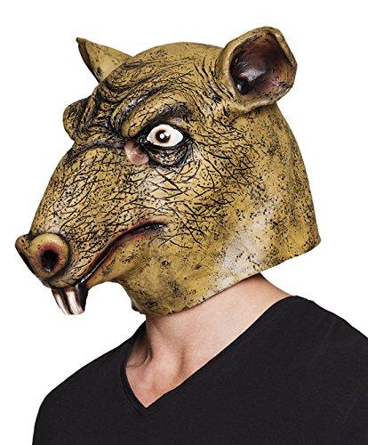erdbeerclown- Halloween Kostüm Latex Maske Monster Ratte Erwachsenen Maske , Mehrfarbig