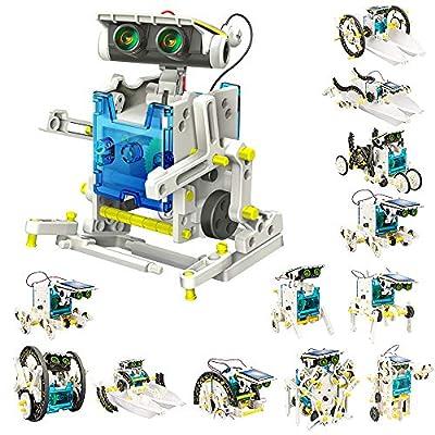 VOLANTEXRC Solar Robots 13 in 1 Convertible Robot Kit Educational Toy DIY Robotics Kit Solar Powered Building Kit Easy Assembly for Kids Children Boys Girls