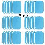 NewL - Lot de 30 patchs de gel de remplacement pour électro-stimulateur abdominal (2 pièces/paquet, 15 paquets/boîte)