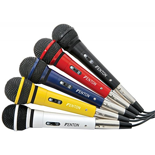 Skytec DM120 Karaoke microphone Wired Black, Blue, Red, White, Yellow - Microphones (Karaoke microphone, -71 dB, 100 - 10000 Hz, Cardioid, 600 Ω, Dynamic)