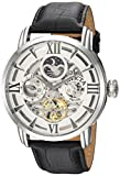 Invicta Men's Objet d'Art Stainless Steel Automatic-self-Wind Watch with Leather Calfskin Strap, Black, 24 (Model: 22650)