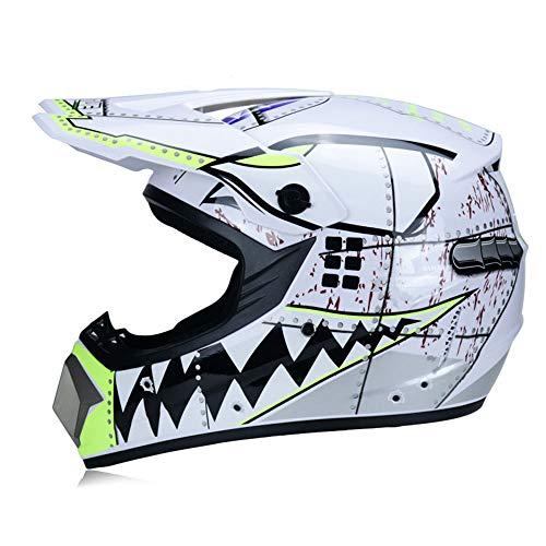 Cascos De Motocross para Hombre Cascos De Motocross con Gafas De Visera...