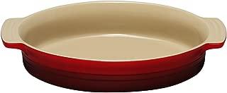 Le Creuset Stoneware Shallow Oval Dish, 27 cm, Cerise