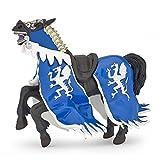Papo 39389 Pferd des Drachenkönigs, blau Mittelalter - Fantasy Figur, Mehrfarben -