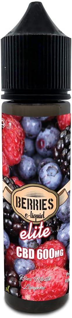 Berries Elite cbd 600mg 50ml sabores naturales de Grosella Arándanos y Frambuesa - Liquido para cigarrillo electronico E-liquid SIN NICOTINA no nicotina no tabaco