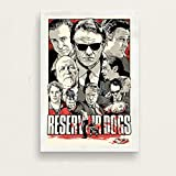 GaoDashan Reservoir Dogs Quentin Tarantino Classic Movie Series Vintage Art Painting Canvas Poster Wall Home Decor Jh-431 Sin Marco Poster 50X70Cm