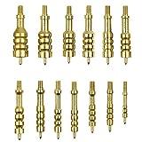 iunio Solid Brass Gun Jag Set, Gun Cleaning Supplies 13 Pieces