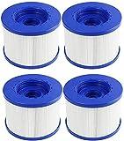 KTMAID Cartuchos de filtro de piscina para Wave Spa, cartucho de filtro de repuesto para Clever Spa, Aquaparx, Aqua Spa, Costway, All Seasons, Ospazia, G...