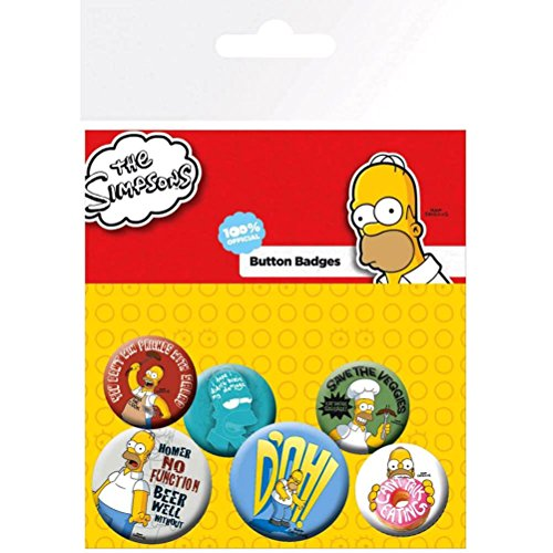 GB Eye The Simpsons Homer Badge Pack