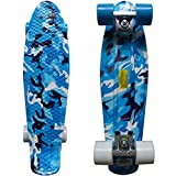 RIMABLE Complete 22 Inches Skateboard BlueCamouflage