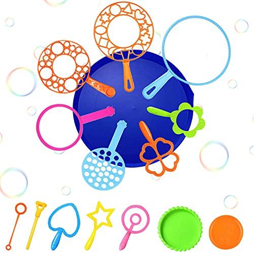 WELLXUNK Kit de Varita de Burbujas, Varita de Burbujas Creativo, Bubbles Maker, Conjunto De Burbujas De Jabón, Maquina de Burbujas Actividad de Verano al Aire Libre, Fiesta de Cumpleaños (B)