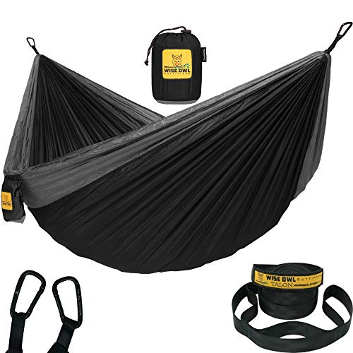 Wise Owl Outfitters Hammock Camping Double & Single with Tree Straps - USA Based Hammocks Brand...