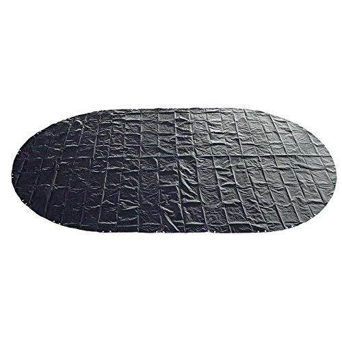 Abdeckplane 200g/m² blau/schwarz für 6,23-6,25 x 3,60 m Oval-/Achtform Pool