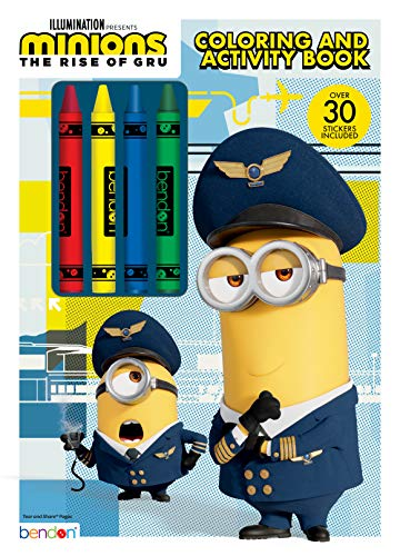 Despicable Me Minions Rise of Gru 48-Page Coloring and Activity Book with 4 Crayons 47653