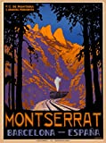 A SLICE IN TIME Montserrat Barcelona España Spain Spanish Europe European Vintage Travel Home Collectible Wall Decor Advertisement Art Poster Print. Measures 10 x 13.5 inches