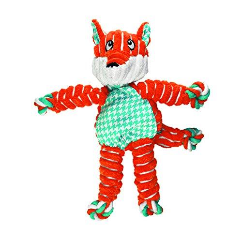 KONG - Floppy Knots Fox - Cordes Noués avec Rembourrage Minimale pour Dégats Minimum - pour Chien Petit/Moyen