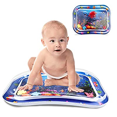 Amazon - Save 50%: Tummy Time Water Mat, Inflatable Play Mat Toys for 3 6 9 12Months, Turtle S…