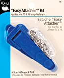 Image: Dritz Snap Fastener Attacher Kit | Easy Attacher | Includes Tool and 4 Size 16 Snaps