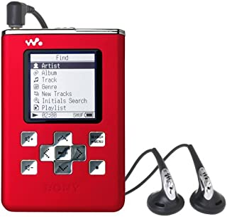Sony NW-HD5 20GB Network Walkman / MP3 Digital Audio Player - Red