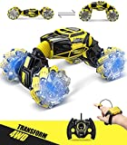 1:16 RC Cars, Transform 4WD Remote Control Car, 20KM/H RC Stunt Cars, 40Min Play with 2 Rechargeable Batteries Gift Toys for 8-12 Years Old Boys Teens by Dodoelephant
