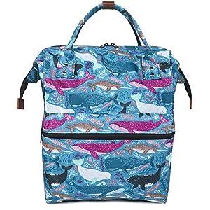 51NTXsk1HBL. SS300  - Oflamn Mochila para Mochila portátil Bolsa de Escuela de Lona Unisex Vintage Daypack para Hombres y Mujeres, Colegio y…
