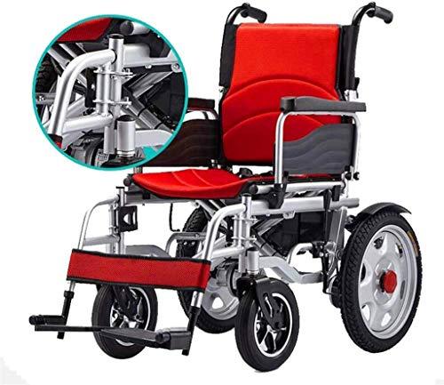 WXDP Scooter eléctrico eléctrico eléctrico eléctrico autopropulsado, inteligente automático de cuatro ruedas para personas con discapacidad mayores, asiento grande, cómodo y A