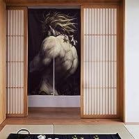 ジョジョの奇妙な冒険 jojo のれん 暖簾 ドア・仕切りカーテン インテリア 和風 遮光 厚手 おしゃれ かわいい キャラクター 四季兼用  キッチン 玄関 飲食店 85x142㎝