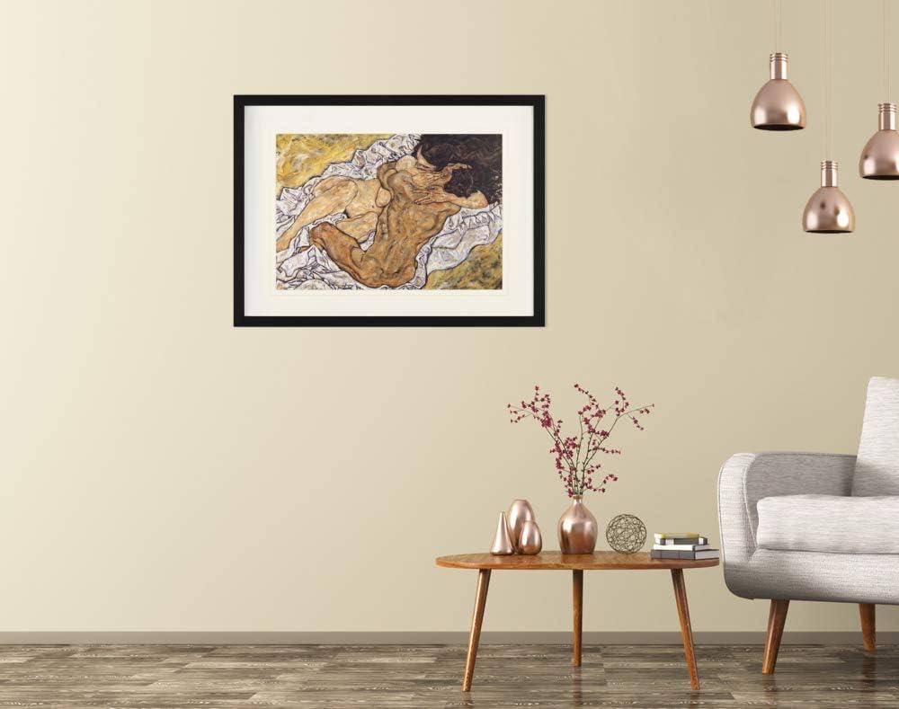 Amantes II El Abrazo 1art1 Egon Schiele 40 x 30cm 1917 P/óster De Colecci/ón Enmarcado