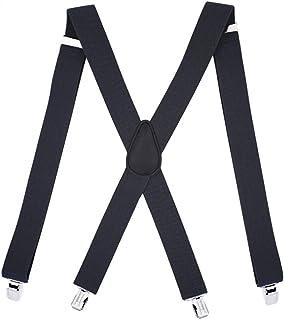 Tirantes de los hombres, ajustables y elásticos para hombre en forma de X con clips muy fuertes para informal y formal