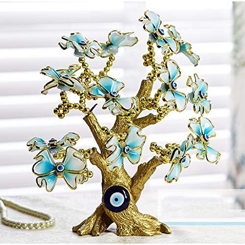 NYKK Ornamento de Escritorio Suerte Mariposa Dinero Figurines for la decoración casera Suerte Ornamentos de la Sala Fortune árbol Decoraciones for el hogar Manualidades artesanías decoración