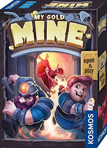 KOSMOS 680770 My Gold Mine, spannendes Kartenspiel, 2-6 Personen, Familienspiel auch für unterwegs, Reise-Spiel, kleines Geschenk für Kinder Jugendliche und Erwachsene