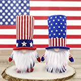 🎆 ADORABLE PATRIOTIC DECORATIONS - In folklore, the gnome brings good luck to families and is regarded as good luck. Add holiday charm to your American President Election Decoration/Veterans Day /4th of July/American Independence Day/Memorial Day hom...