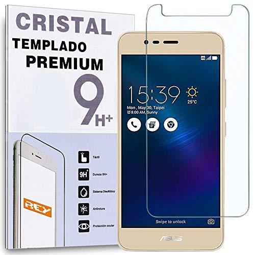 REY Protector de Pantalla para ASUS ZENFONE 3 MAX 5.5', Cristal Vidrio Templado Premium