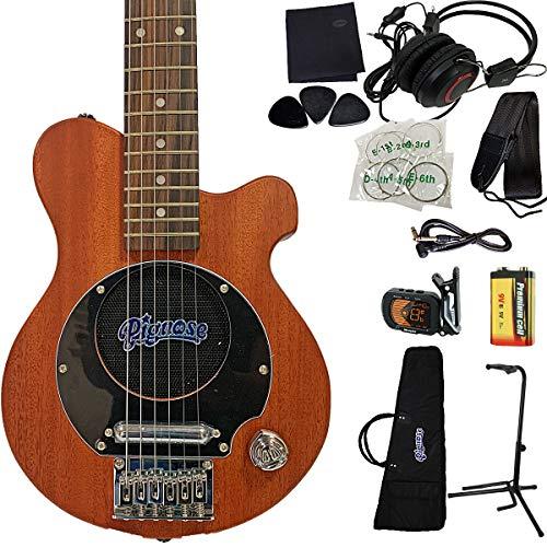 PIGNOSE PGG-200MH☆11点セット☆ピグノーズ アンプ内蔵ギター マホガニーモデル リップスティックタイプピックアップ内蔵