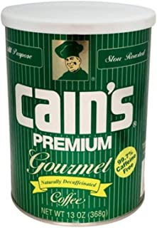Cain's Premium Gourmet Naturally Decaffeinated Coffee 13 Oz. Can