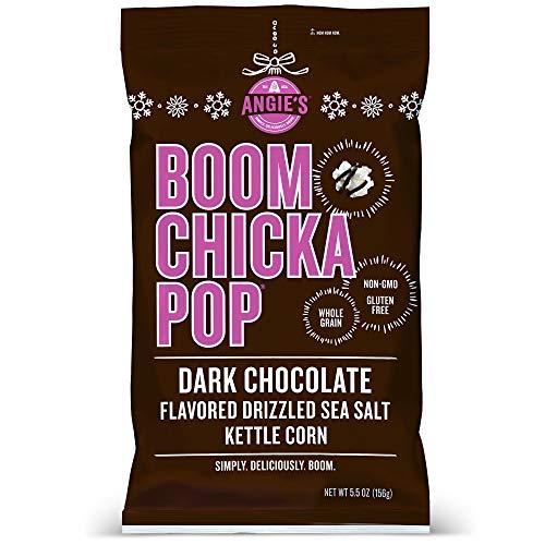 Angies BOOMCHICKAPOP Dark Chocolaty Drizzled Sea Salt Kettle Corn Popcorn, 5.5 Ounce Bag (Pack of 12 Bags)