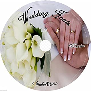 604 Wedding Fonts on cd