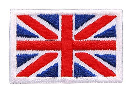 Patch Union Jack Großbritannien Flagge Klein United Kingdom UK Aufnäher Bügelbild Größe 4,5 x 3,0 cm