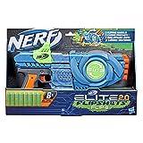 Nerf Lanzador Flipshots Flip-8 Elite 2.0, 8 cañones para Dardos Que Gira para duplicar tu Potencia de Lanzamiento, Capacidad para 8 Dardos, 8 Dardos