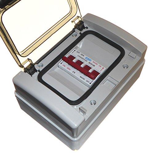 ESR Interruptor de transferencia de cambio de generador de 125 Amp 240 V en carcasa impermeable IP65