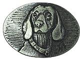 Brazil Lederwaren Gürtelschnalle Bayerischer Schweisshund 4,0 cm | Buckle Wechselschließe Gürtelschließe 40mm Massiv | für Jagd-Outfit und Hunde-Besitzer