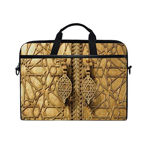 NR 15-15.4 Zoll Laptop Tasche Notebook Handtasche Umhängetasche Aktentasche,Marokkanische Haupttore von Royal Palace Marrakesch Marokko Reise-Touristenattraktions-Foto