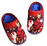 Marvel Iron Man Plush Slippers for Boys Toddlers Kids Children - Red L Size