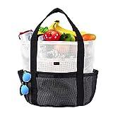 Mesh Strandtasche Einkaufstasche Shopper, Spielzeug Tasche Extra große 35L Lebensmittel Picknick...