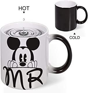 Color Changing Mug Heat Sensitive Coffee Mug Unique Ideal Gifts For Friend Kids Mom Dad-Mickey Mouse Marriage