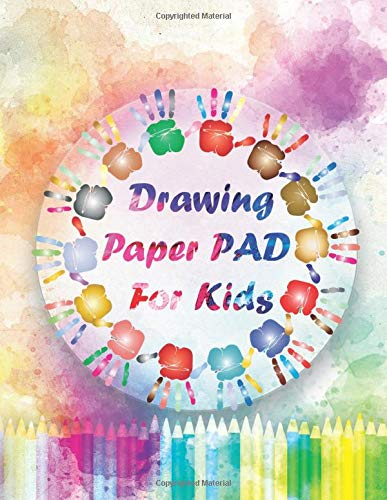 Drawing Paper Pad For Kids: Large blank paper sketchbook for drawing, sketching, and painting, 120 pages size 8,5'x11' drawing Notebook for kids Age 4 to 12 years old