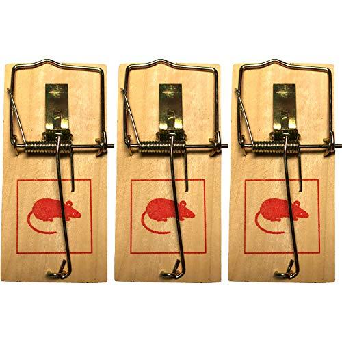 conkor Klassische Holz-Mausefalle - Mausefalle Schlagfalle, mit Spannvorrichtung - Mäuse vertreiben, Mausfallen für drinnen - Hohe Schlagkraft, einfache...